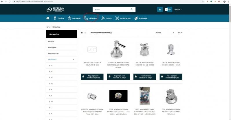 Material Hidráulico para Construtora Carapicuíba - Material Hidráulico Industrial