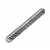 barra roscada alumínio