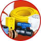 conexão elétrico e hidráulico