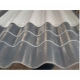 telha ondulada em fibra de vidro